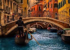 日落时分的威尼斯