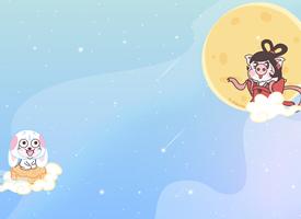 超可爱的小恭猪奔月高清图片欣赏