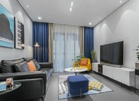 100㎡现代简约风格三居室装修效果图