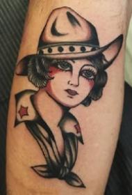 九款oldschool欧美女人肖像纹身图案