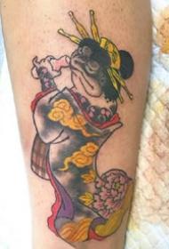 有趣的一组日式传统小动物纹身图片