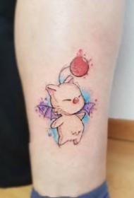 九款可爱小清新感的彩色系纹身图案欣赏
