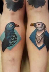 纹身鸽子图 9张象征和平的鸽子纹身图片