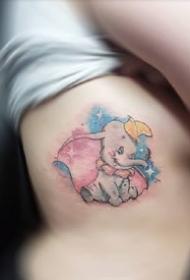 九款唯美的彩色清新感纹身图案欣赏