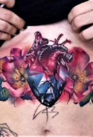 心脏纹身 29款精美的心脏纹作品图案