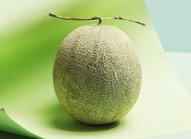 一组小清新感的绿色哈密瓜图片