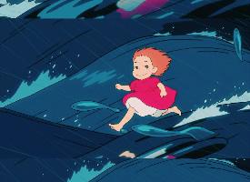 动漫悬崖上的金鱼姬壁纸图片