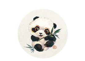可爱国宝小熊猫手绘高清手机壁纸