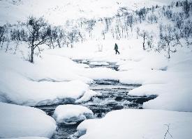一组白雪皑皑的冰雪景色图
