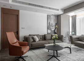 138㎡现代简约三居室装修效果图欣赏