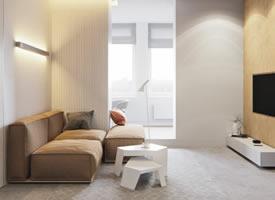 简约纯净的公寓装修效果图欣赏