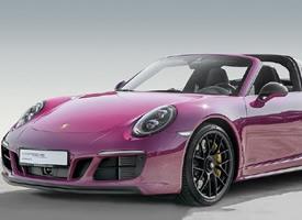 一组帅气紫色保时捷2018 Targa 4 GTS