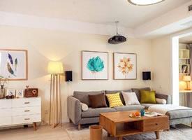 一个清爽简约的三居室装修效果图