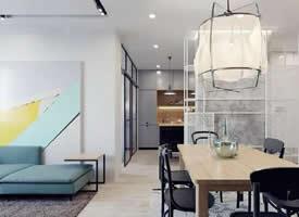 一组55㎡小公寓装修效果图欣赏