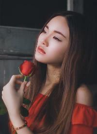 美女玫瑰文艺写真摄影图片