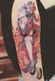 日本艺妓纹身-台湾纹身师Kubrick的纹身作品分享