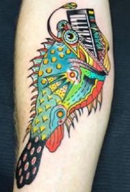 一组色彩丰富的old school纹身图案