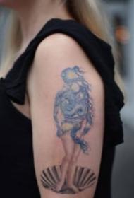 纹身艺术家Eva Krbdk复制梵高、克利姆特的作品