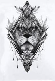 狮子座纹身 14款适合十二生肖的狮子纹身图片