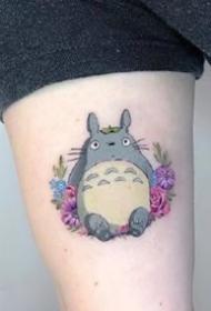一组可爱的彩色圆形小纹身图案欣赏