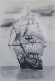 帆船纹身 10款好看的帆船纹身手稿和图案作品