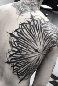 暗黑灰的9款黑色花体字纹身图片