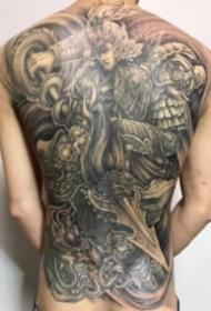 赵云纹身 8款满背手臂等常山赵子龙纹身图案
