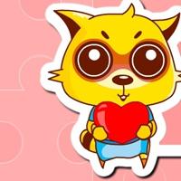 可爱的黄色小狸猫