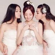 好看的穿婚纱三姐妹qq闺蜜头像图片