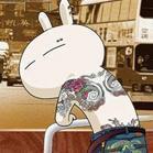长相古怪的兔斯基qq卡通头像图片