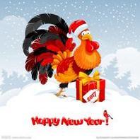 萌萌哒可爱卡通动物小鸡新年头像图片