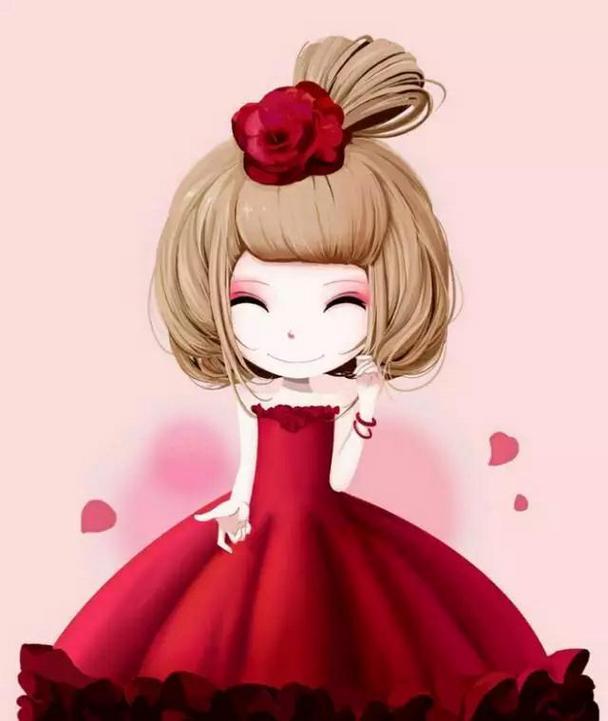 甜美可爱插画女生唯美qq卡通头像图片