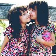 欧美可爱的峦生姐妹唯美qq头像图片