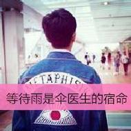 时尚潮流的男生背影qq文字头像图片