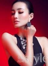 王丽坤红色新年写真曝光 变身华丽女神