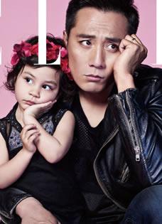 刘烨携混血爱女登杂志封面 父女搞怪吸睛