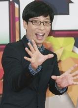 无限挑战歌谣祭记者会 刘在石HAHA等帅气亮相