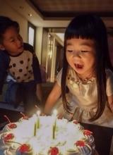 Grace姐姐4岁生日 曹格为女温馨庆生