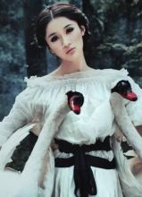王熙然白色森女天鹅唯美写真