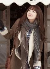崔智友冬季清新时尚写真