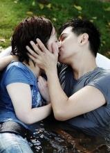 一起飞剧照 林志颖张娜拉激情湿吻