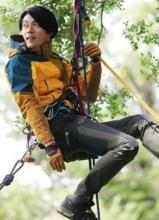 玄彬户外写真 变身攀岩冒险者