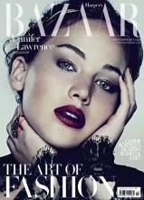 詹妮弗·劳伦斯登杂志封面 尽显优雅知性美