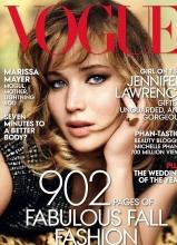 詹妮弗·劳伦斯登杂志封面 眼神魅惑尽显轻熟女魅力