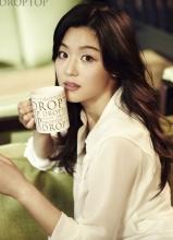 全智贤咖啡品牌宣传写真 散发女人香气