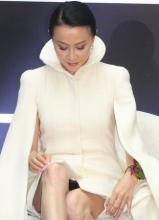 刘嘉玲走光露底裤 谢霆锋惨遭揩油