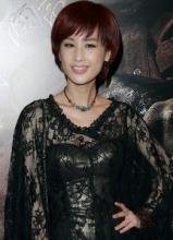 中美电影节颁奖礼 闫妮红裙亮相优雅动人
