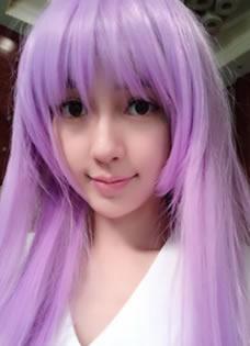 angelababyCOS自拍 金克斯紫色长发