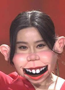 """范冰冰《出彩中国人》戴猪脸面具扮丑 观众大呼:""""还是很美"""""""