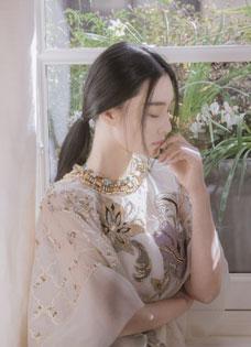 张馨予仙气生日写真 女神范酷似范冰冰